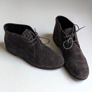 Franco Sarto Portier Gray Chukka Suede Ankle Boots